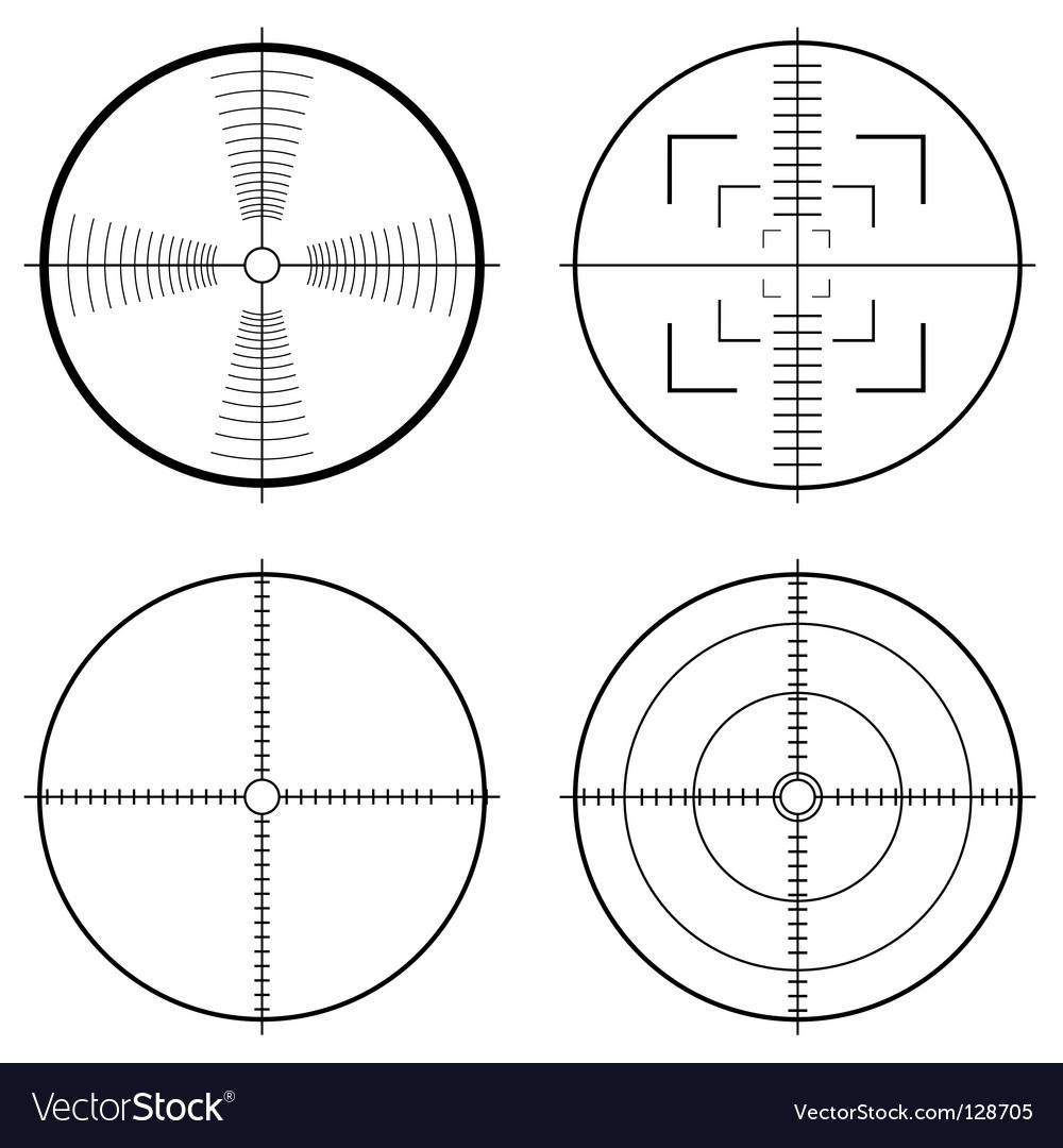 Hunting sight target vector image
