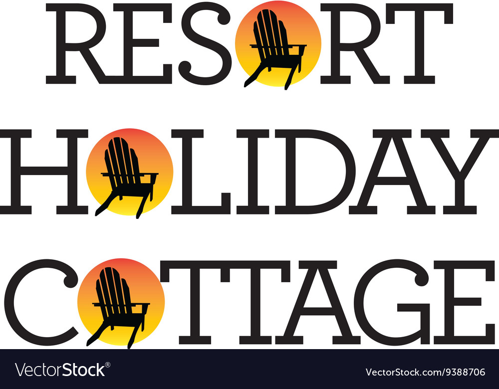 Adirondack Chair Holiday Graphics vector image
