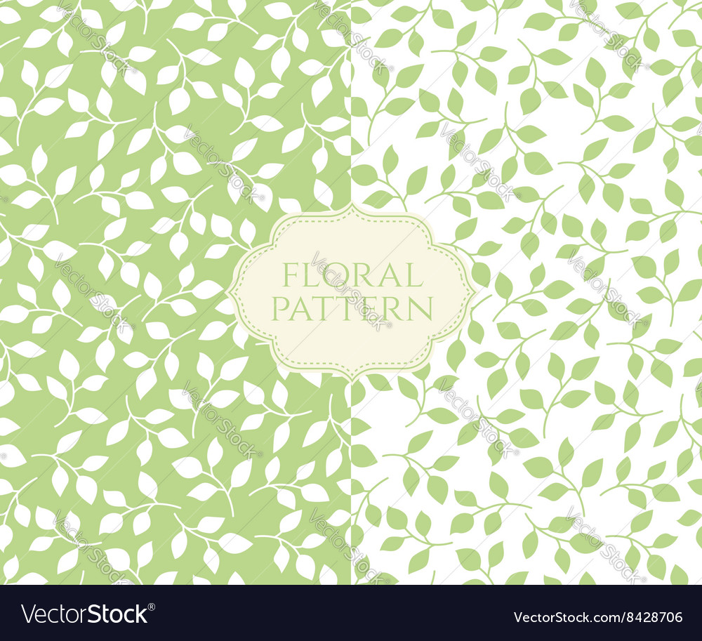 Seamless floral patterns set vintage background vector image