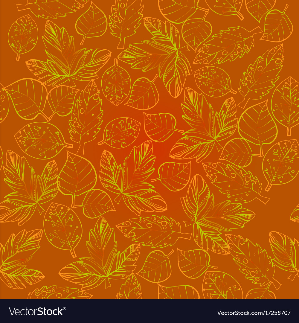 Autumn graphic with color stylize vector image
