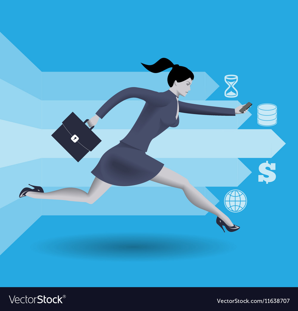 Digital market race business concept vector image
