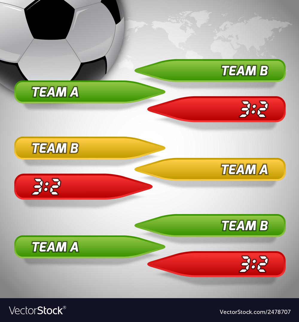 Football score colors buttons vector image