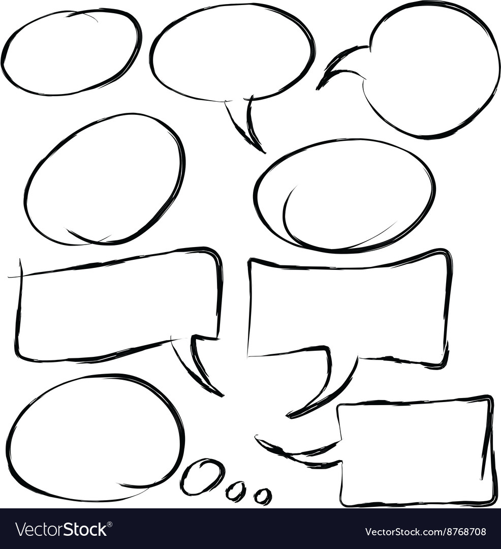 Speech bubble hand drawn vector image