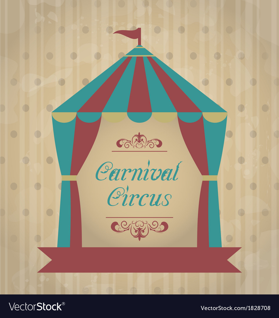 Vintage carnival poster for your advertising vector image