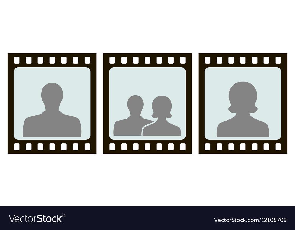 Frame for photo slide vector image
