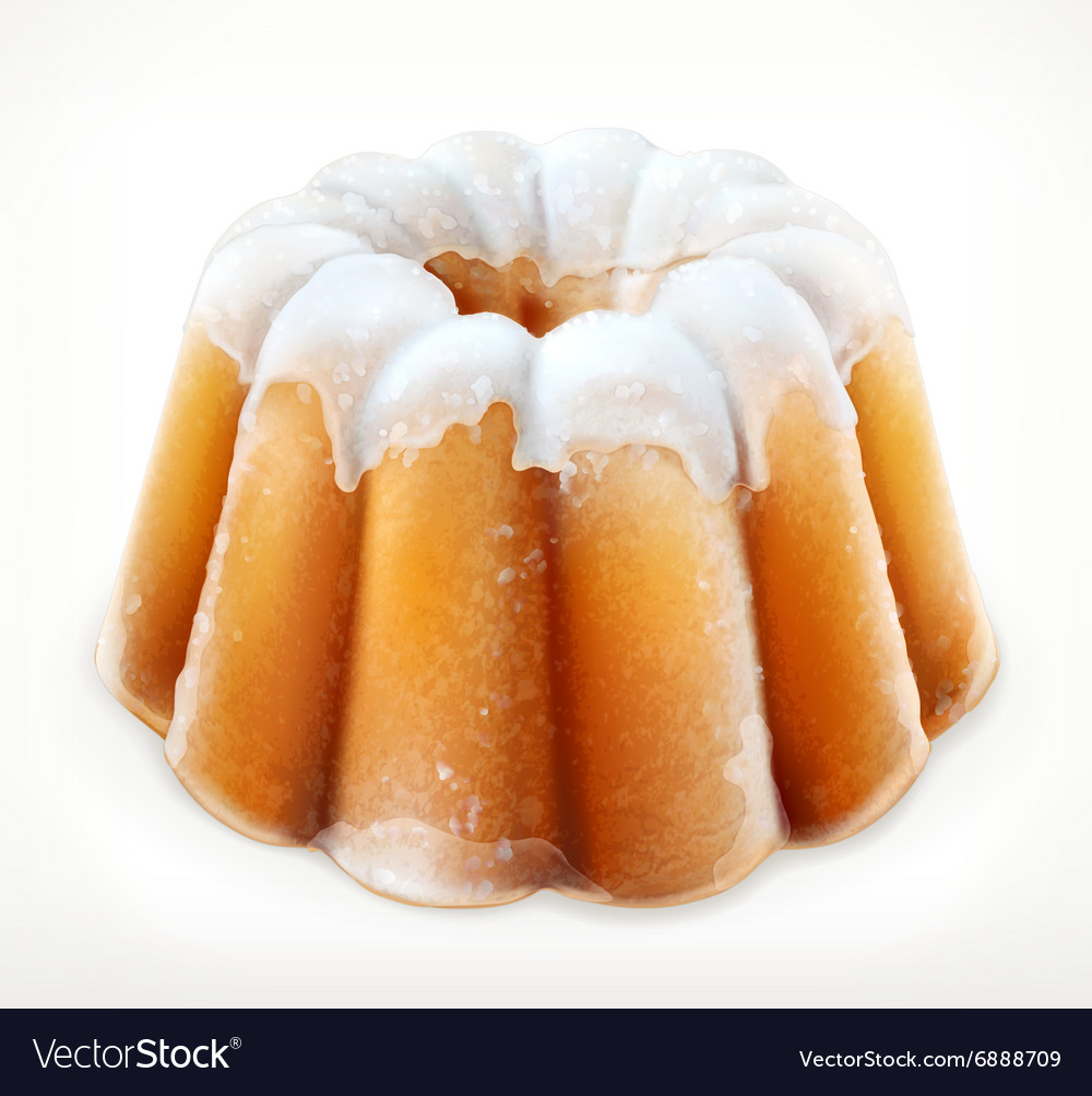 Lemon cake icon vector image