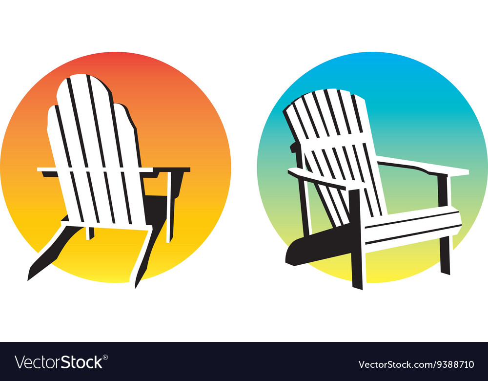 Adirondack Chair Sunset Graphics vector image