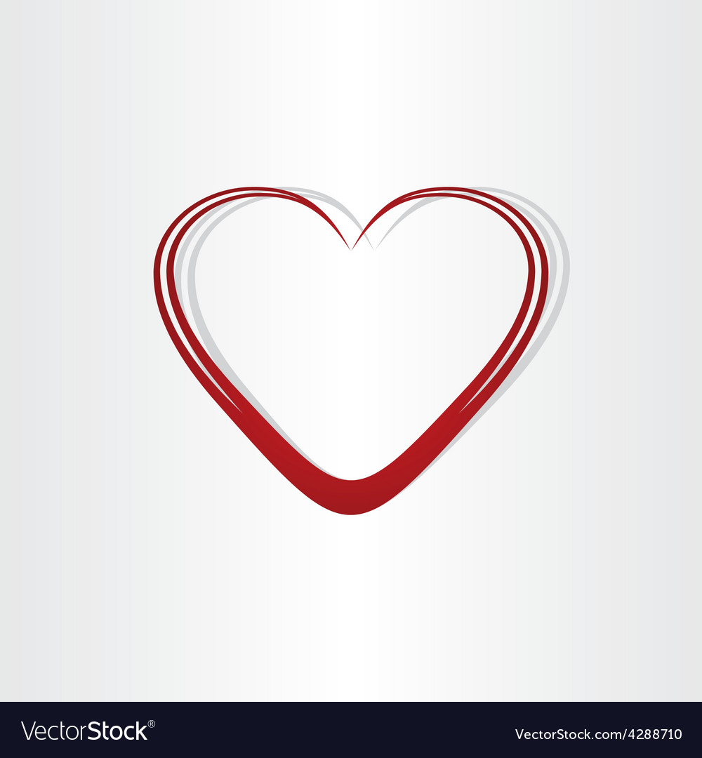 Heart shape text box frame vector image
