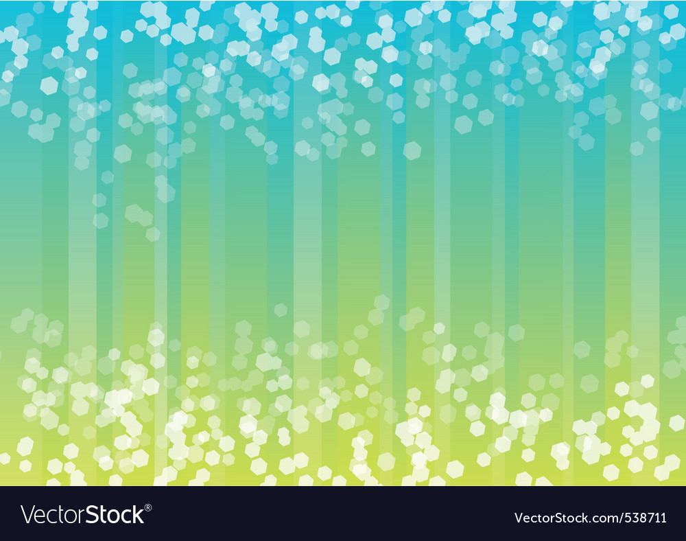 Blue and green background with hexagon vector image