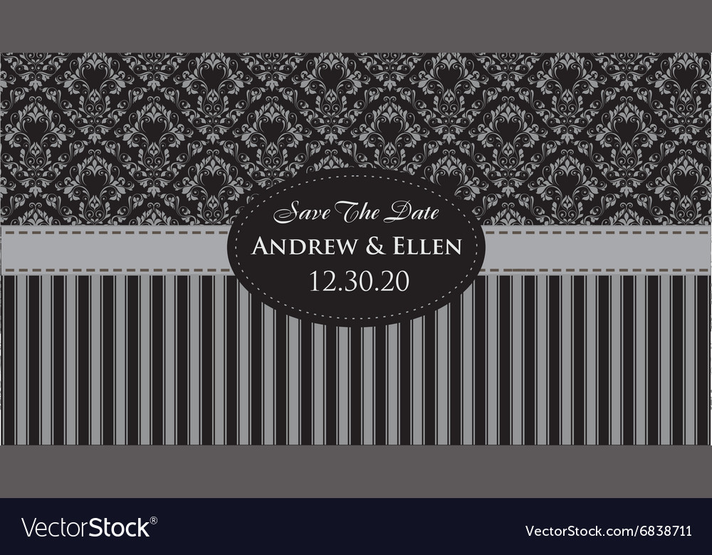 Royal floral with ellipse frame invitation vector image stopboris Images