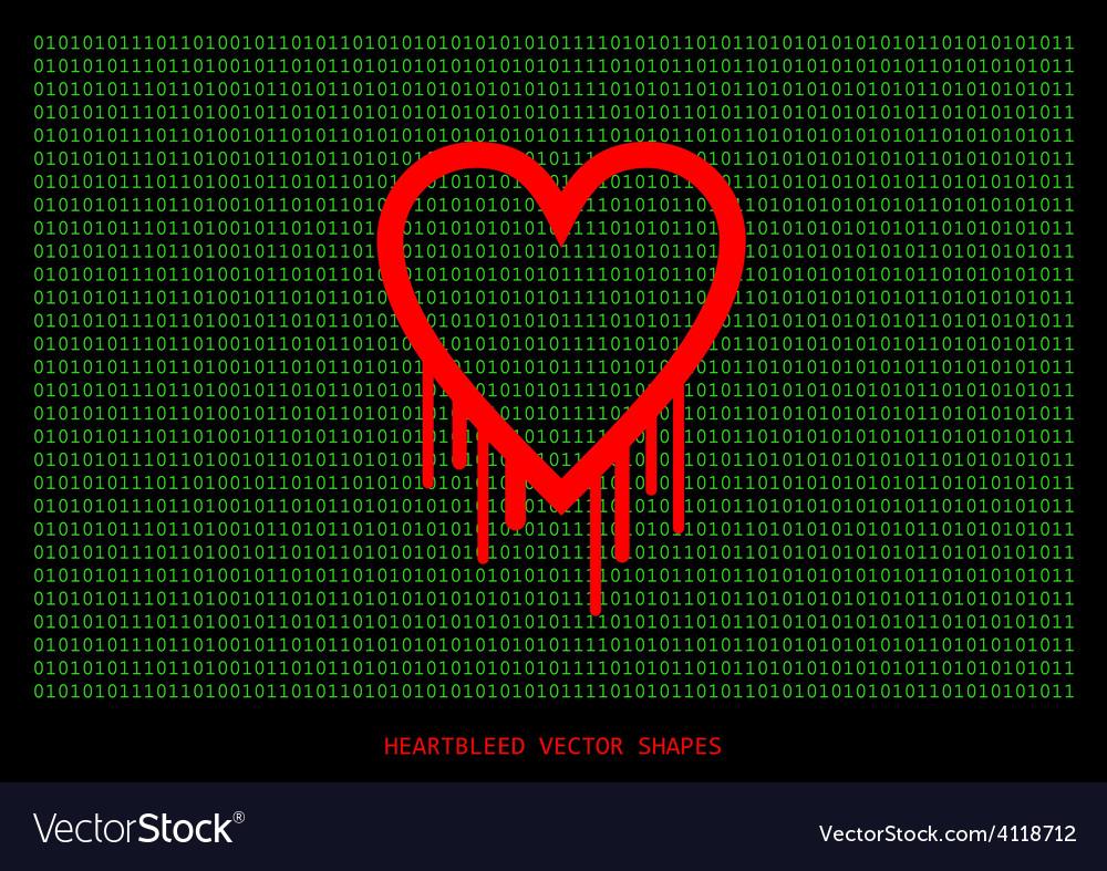 Heartbleed openssl bug shape bleeding heart vector image heartbleed openssl bug shape bleeding heart vector image buycottarizona