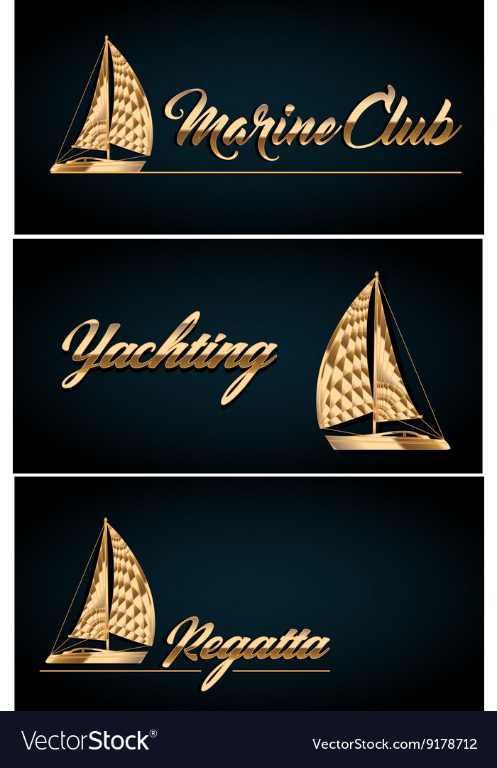 sailing yacht business card template royalty free vector