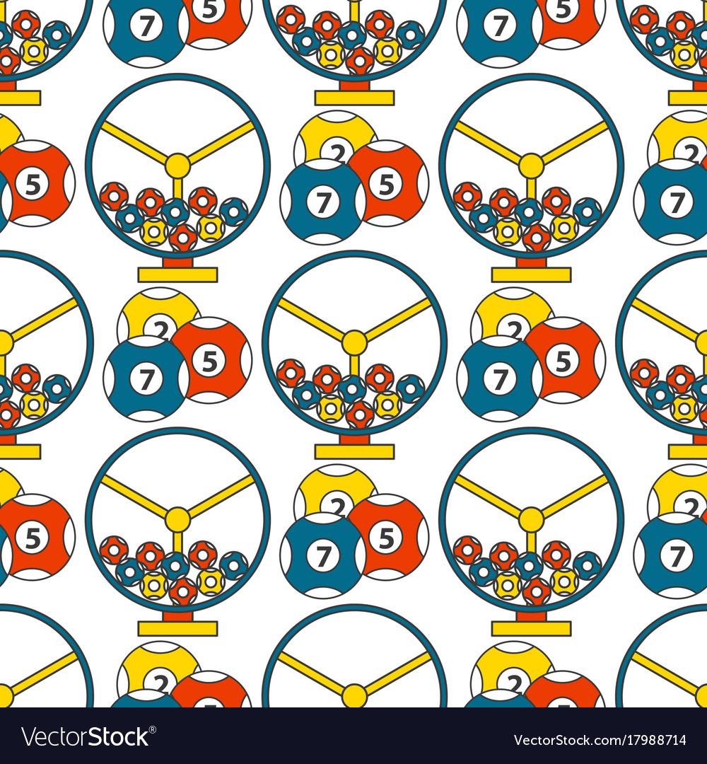 Casino game poker gambler symbols seamless pattern vector image