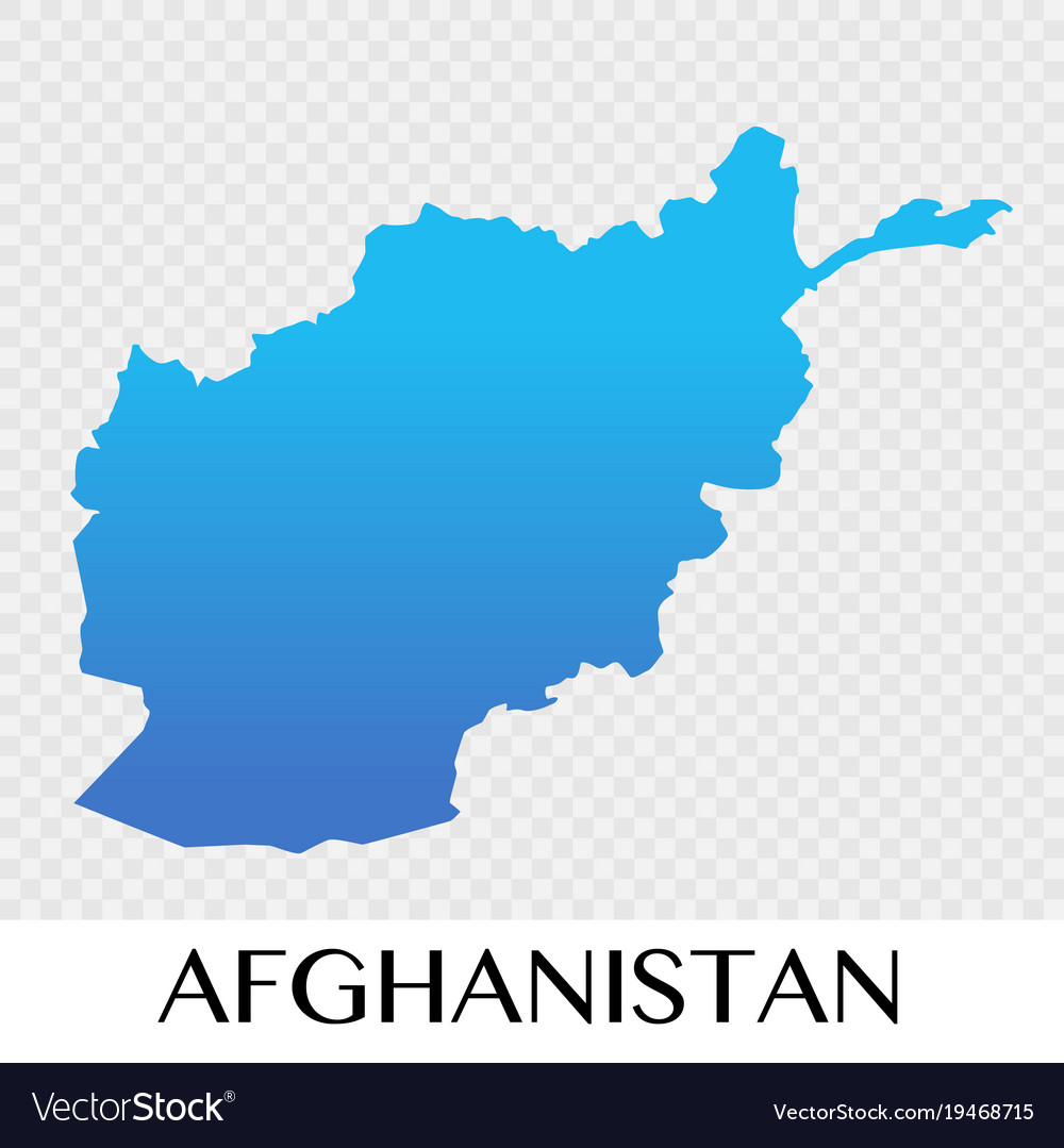 Afghanistan Map In Asia Continent Design Vector Image - What continent is afghanistan in