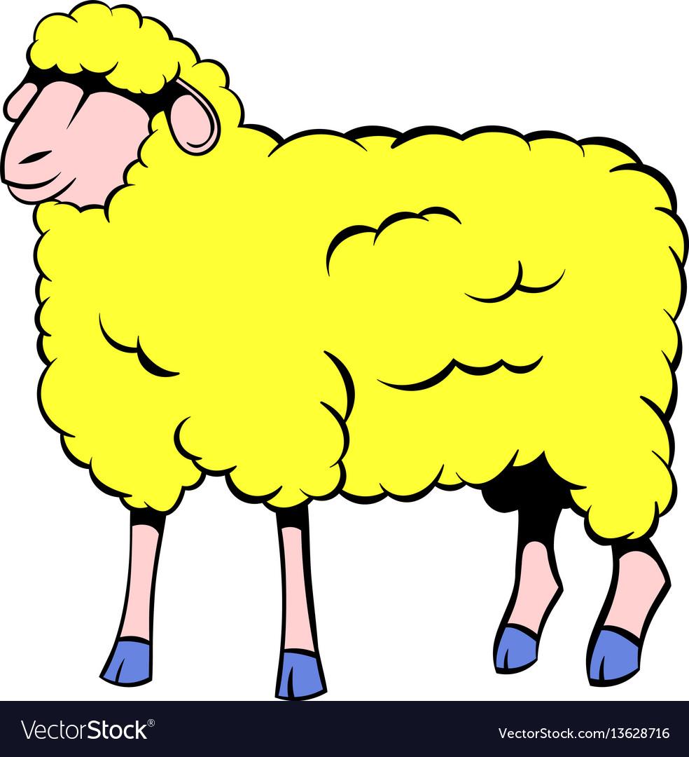Sheep icon cartoon vector image