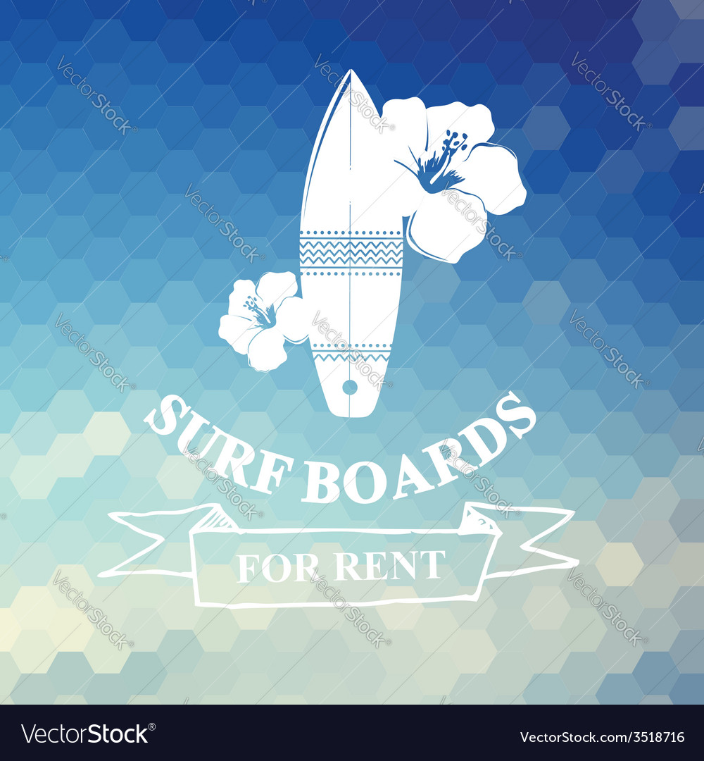Surfing summer icon label vector image