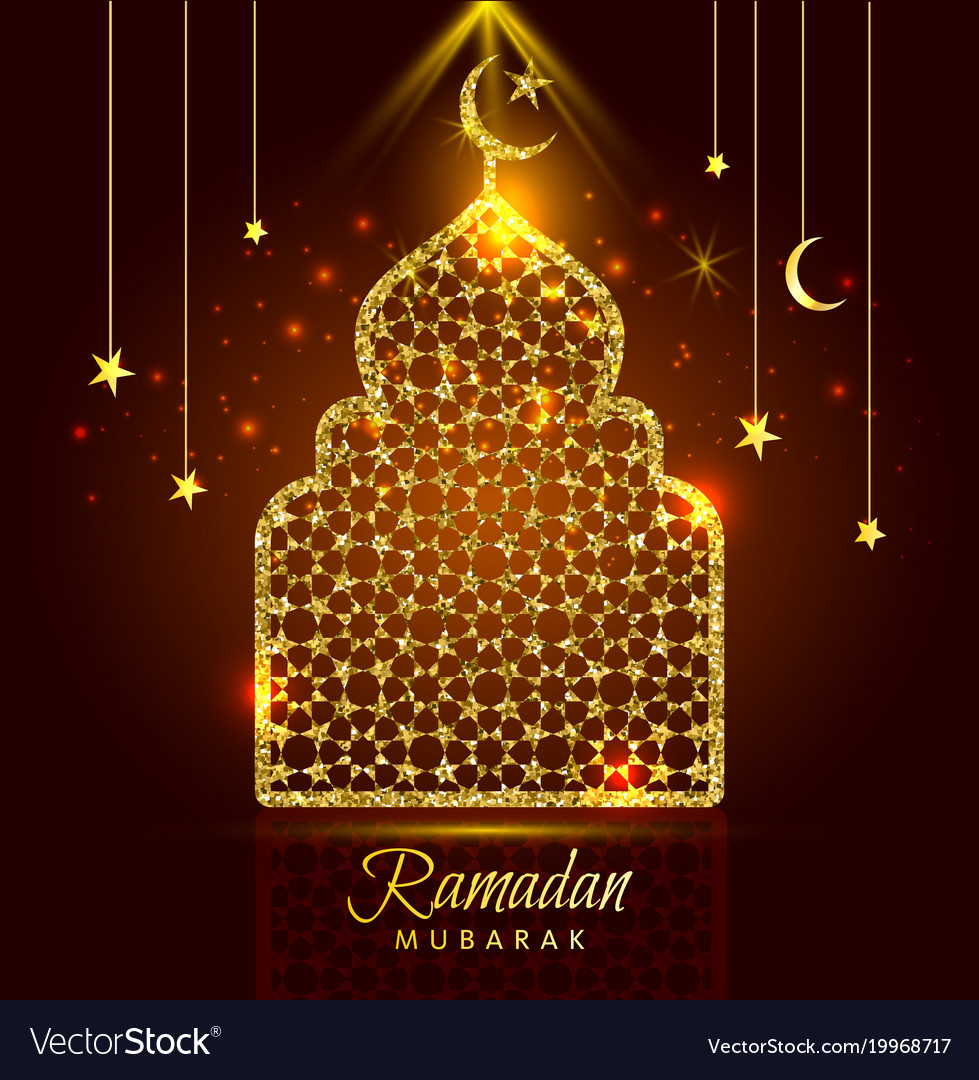 Holy month of muslim community ramadan kareem vector image