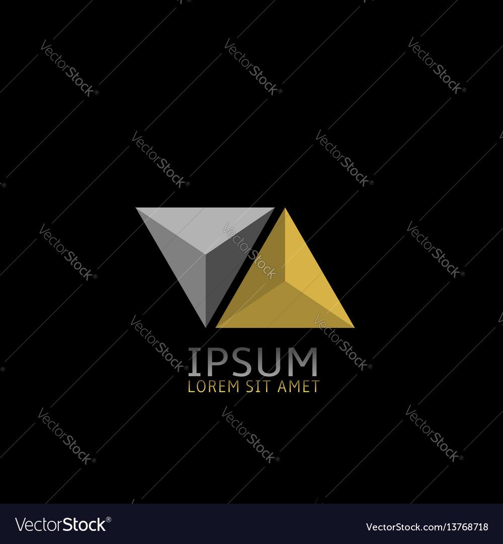 Pyramids logo icon vector image