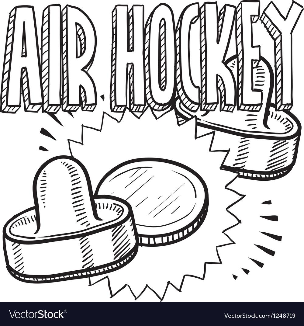 air hockey royalty free vector image vectorstock
