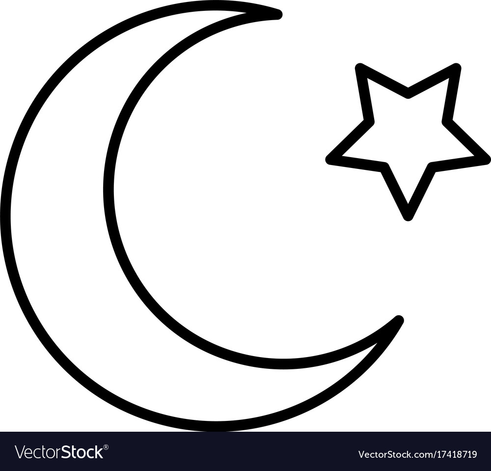 Islam star and crescent moon icon royalty free vector image islam star and crescent moon icon vector image biocorpaavc Gallery