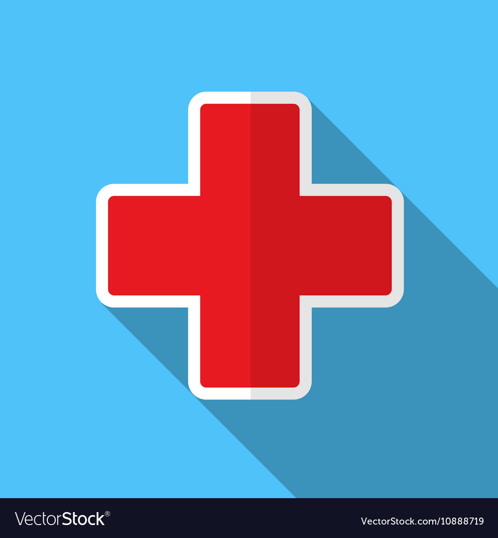 Medical cross flat icon vector image
