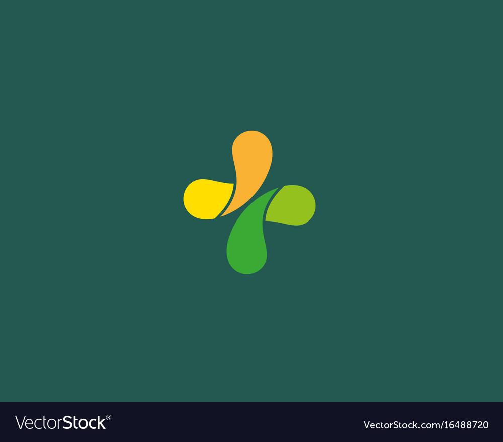 Abstract medical cross logo design color creative vector image