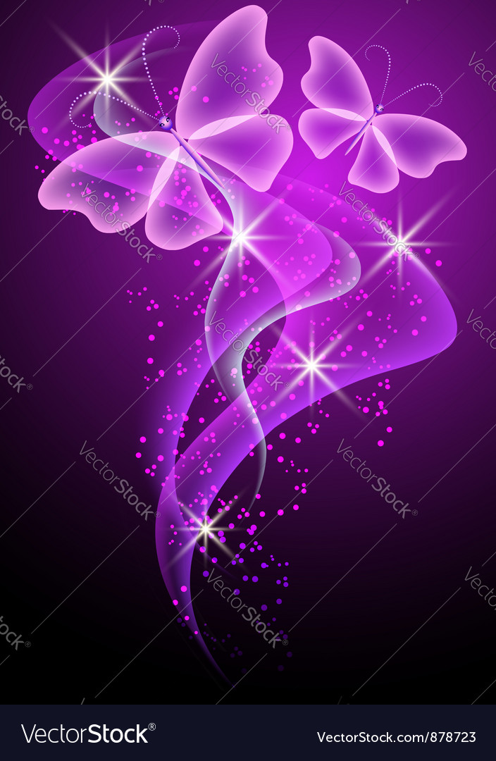 Smoke and butterfly Vector Image