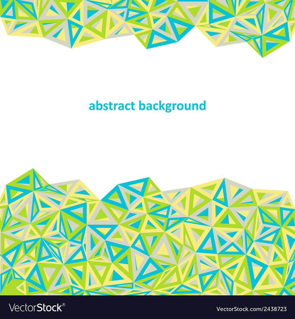 Triangle background colorful abstract vector image