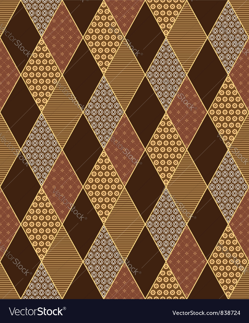 Lozenge motif vector image
