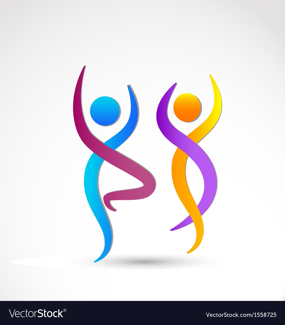 Couple dancing logo vector image