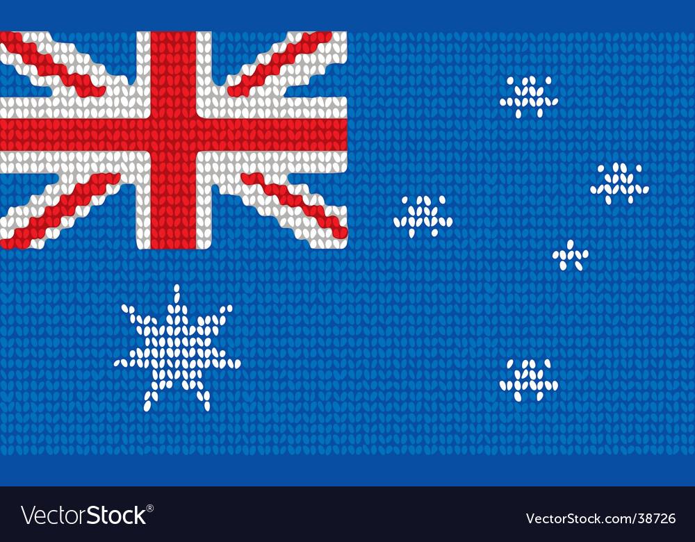 Knitted Australia flag vector image