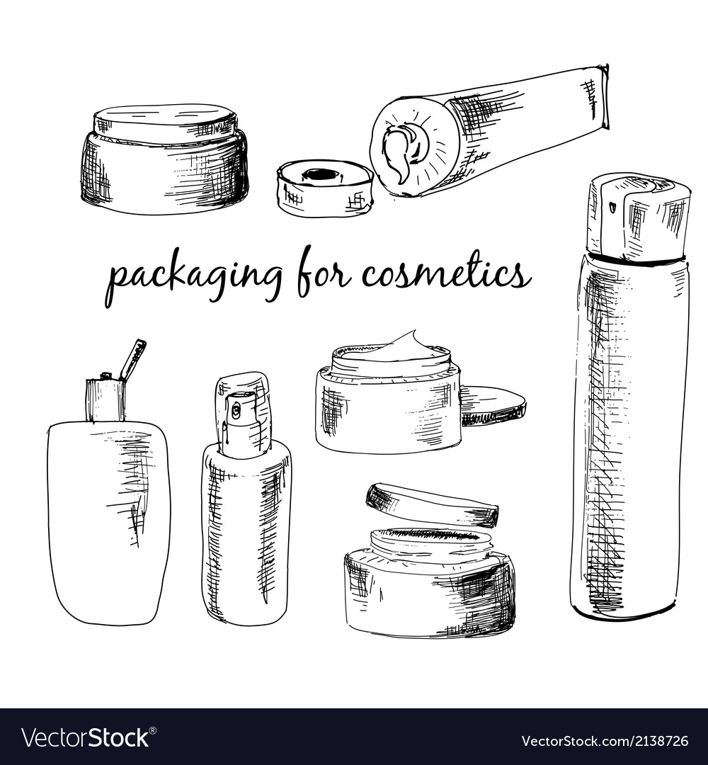 Packaging for cosmetics vector image