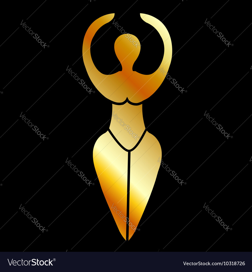 Symbol of the Wiccan goddess vector image