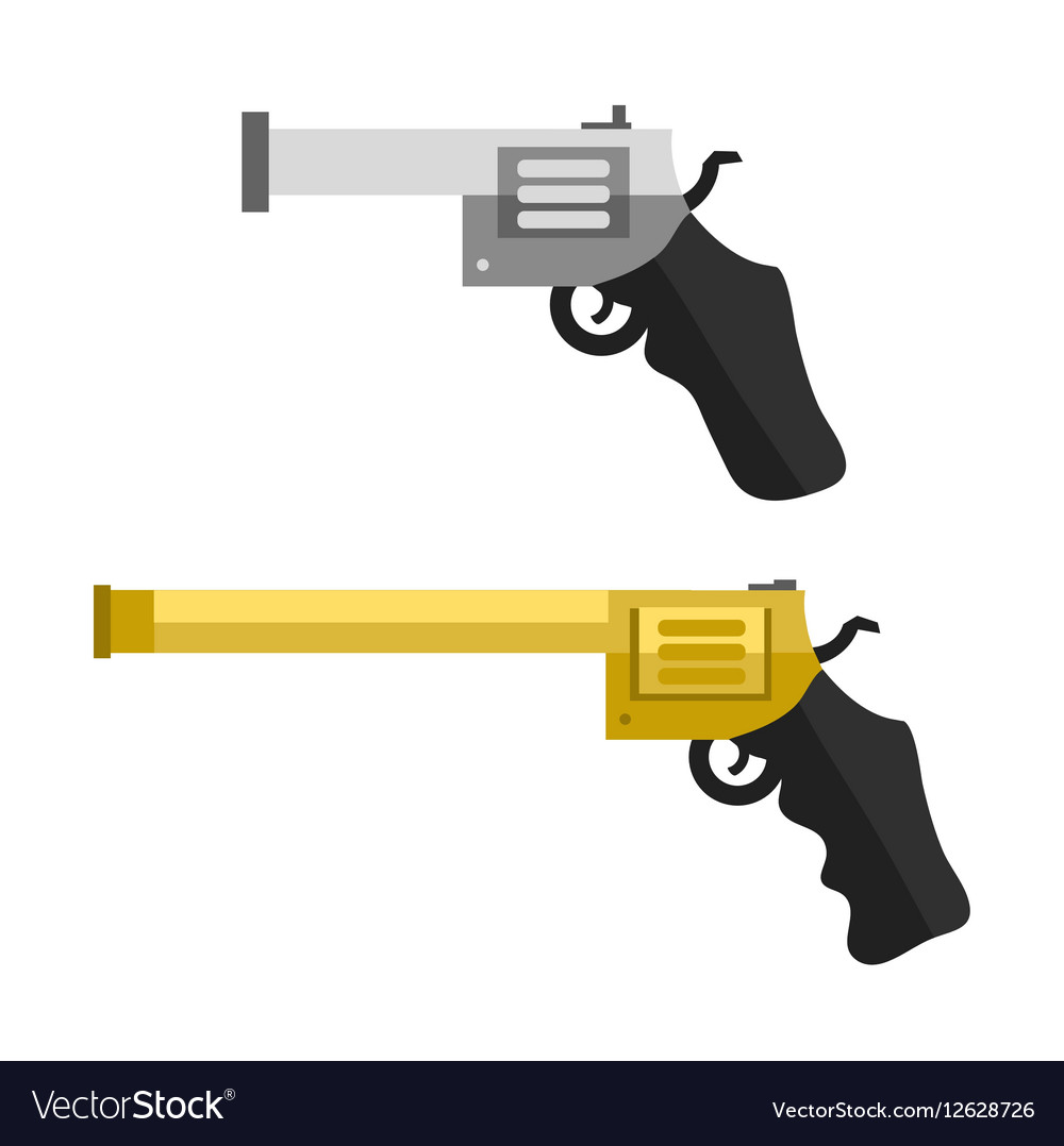 Weapons handguns vector image