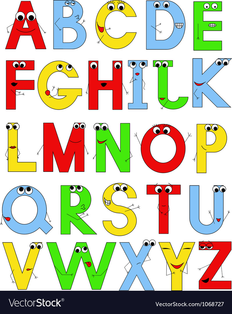 Funny latin alphabet Vector Image