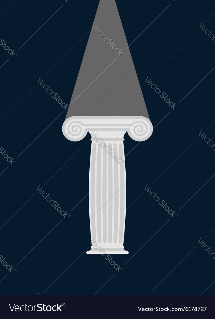 Pedestal Light in darkness Enlightenment vector image