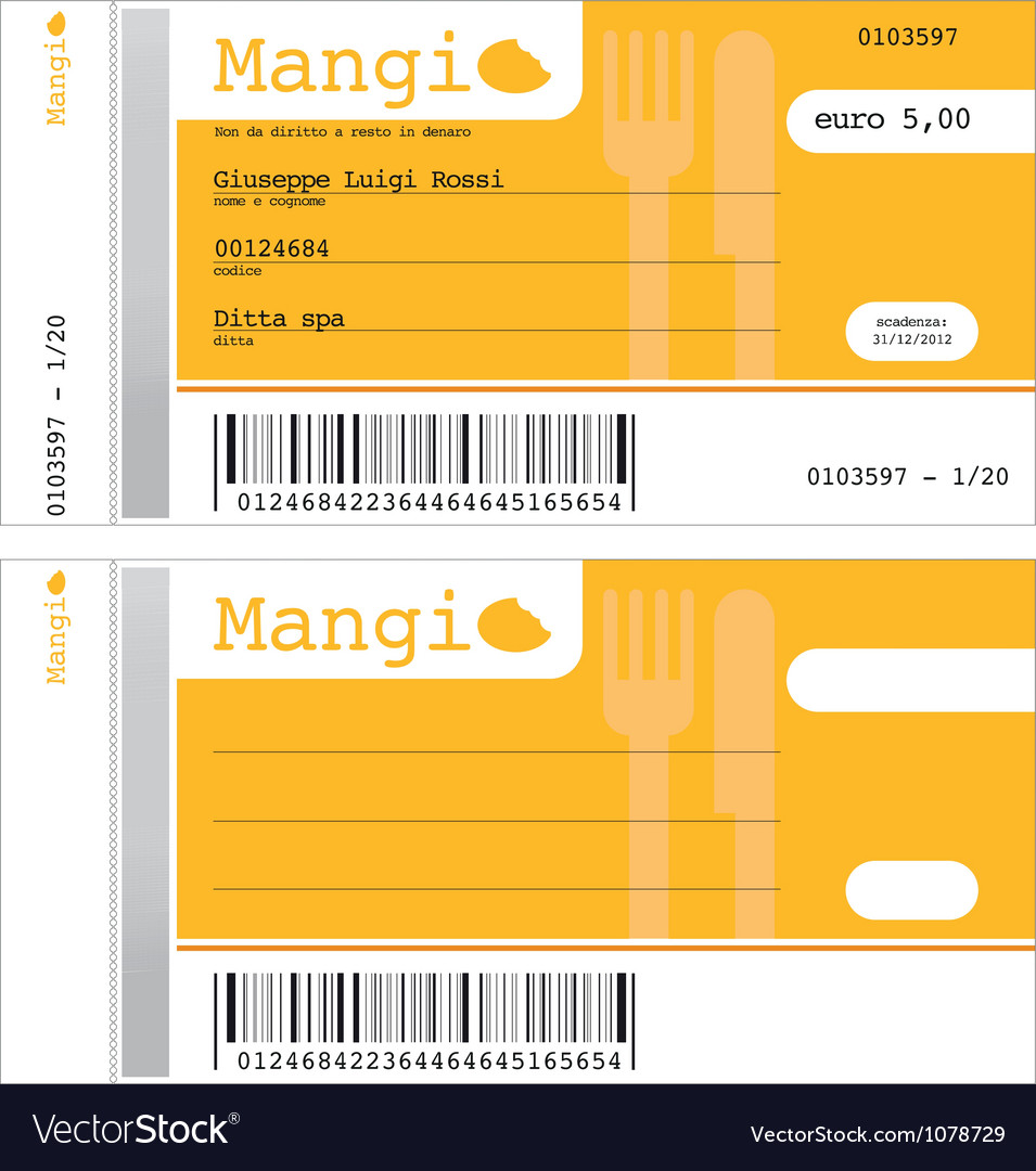 Ticket for the restaurant vector image
