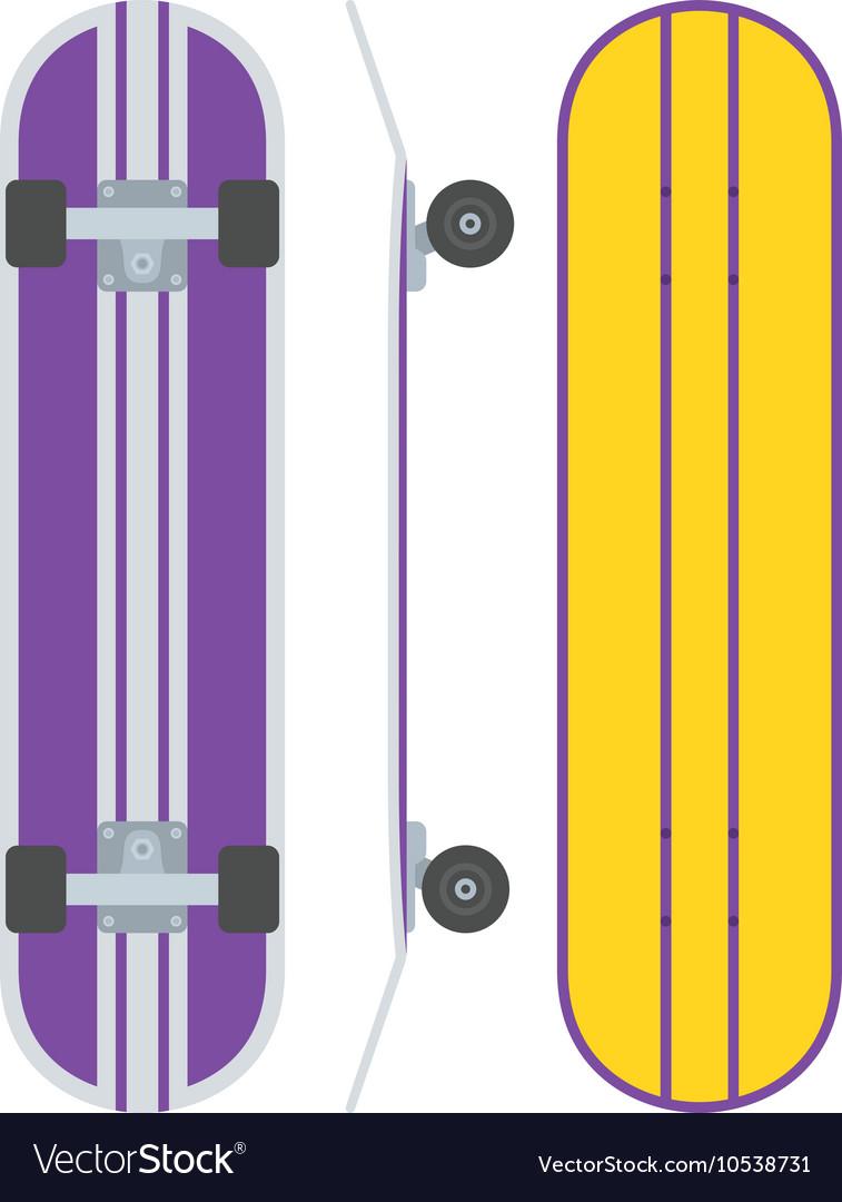 Skatedboard Desk Set vector image