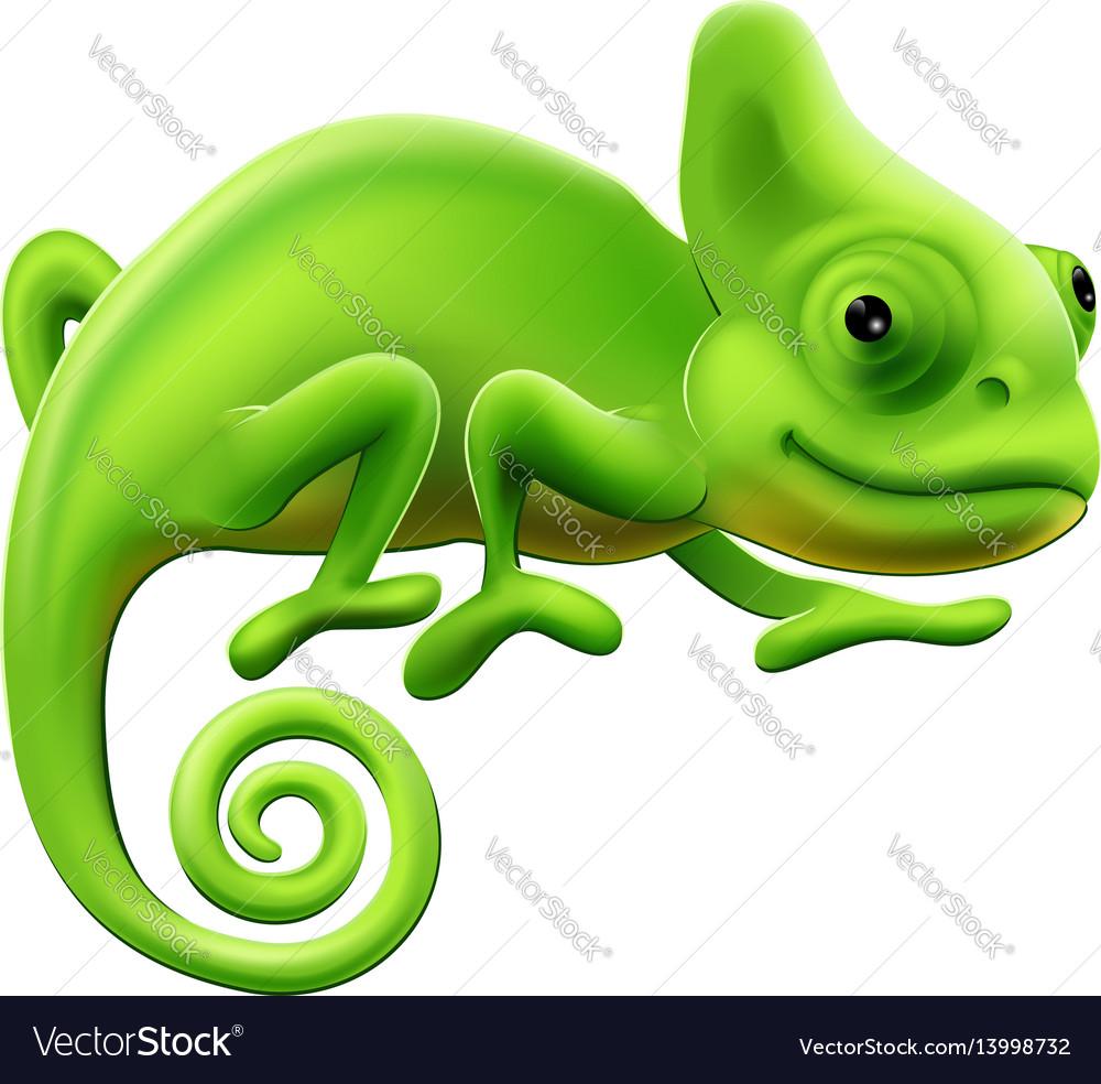 Cute chameleon vector image