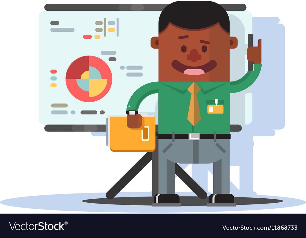 Office worker employee vector image