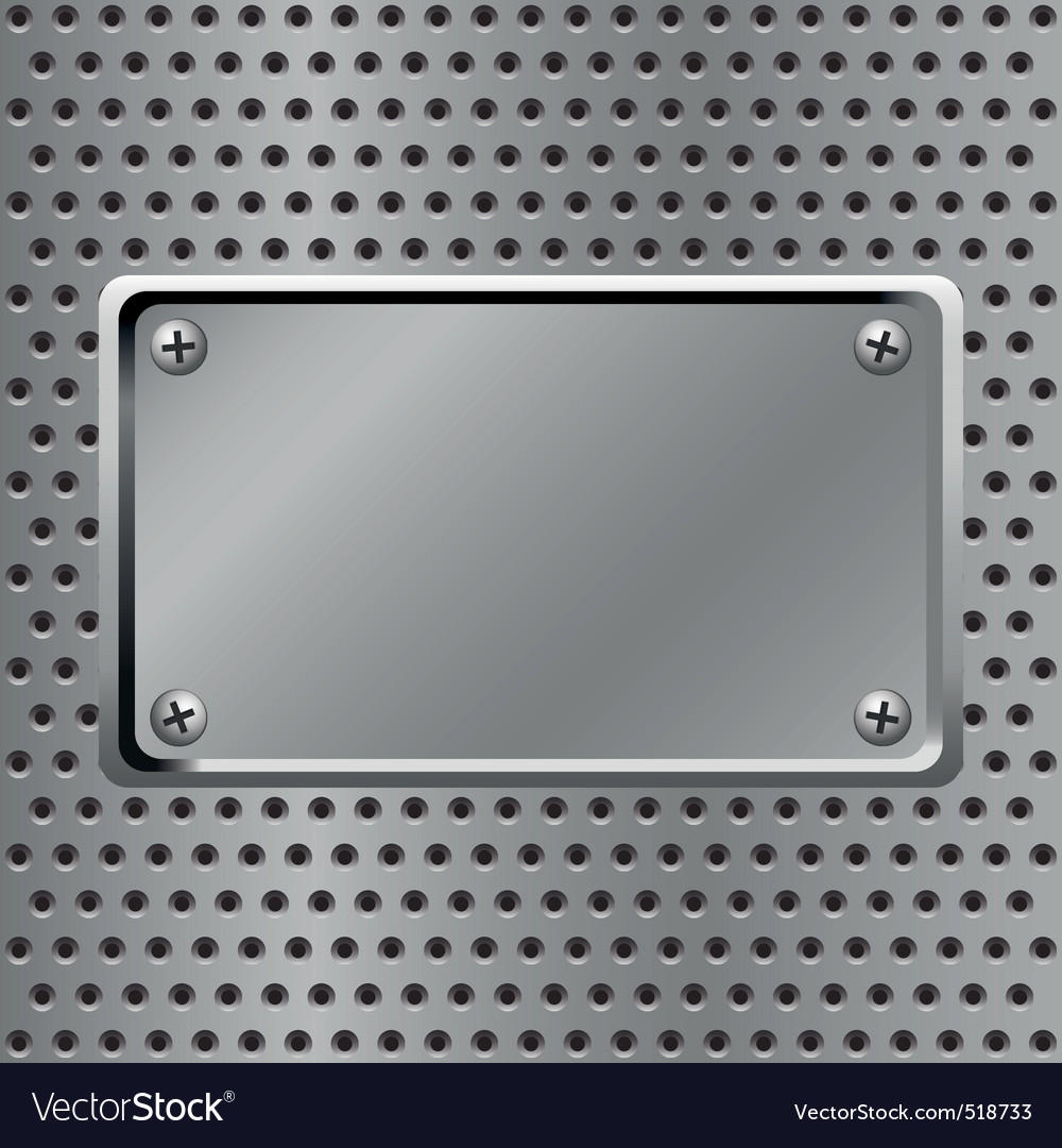 Steel background vector image