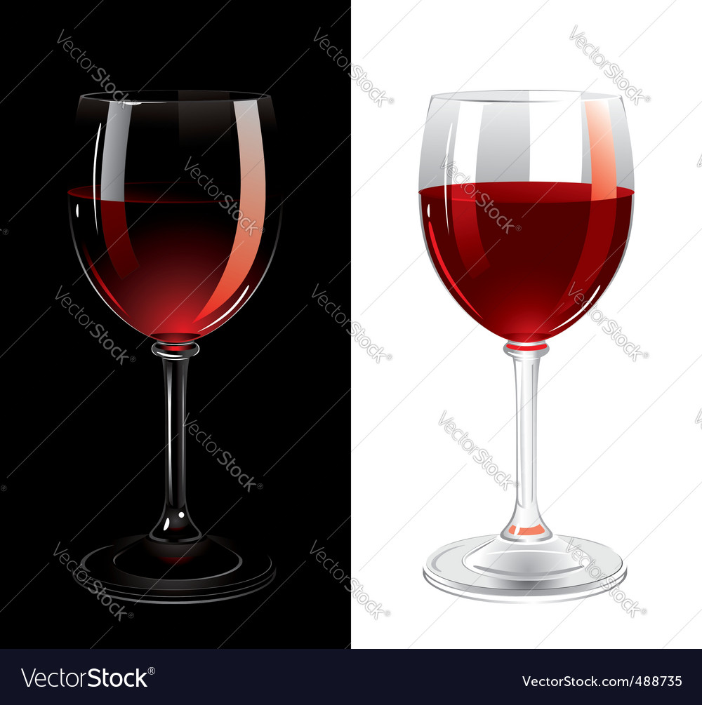 Glasses of wine vector image