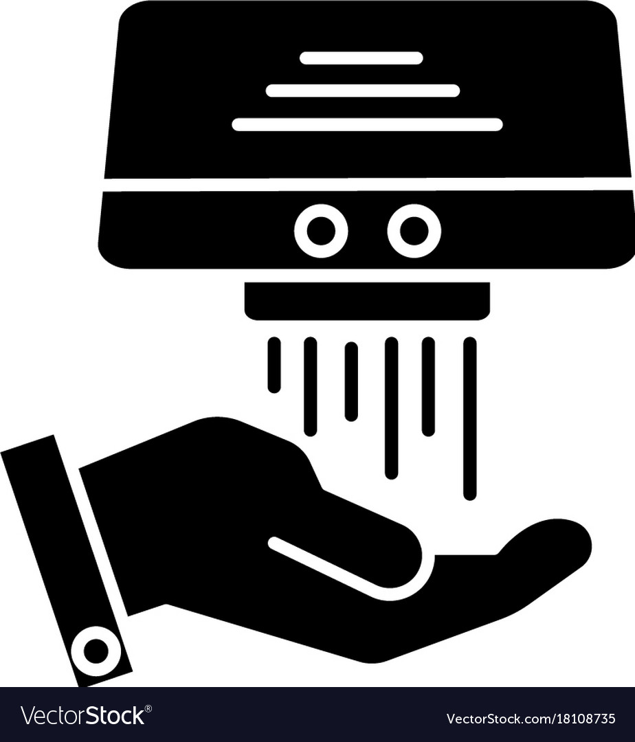Hand dryer icon black sign royalty free vector image hand dryer icon black sign vector image biocorpaavc Choice Image