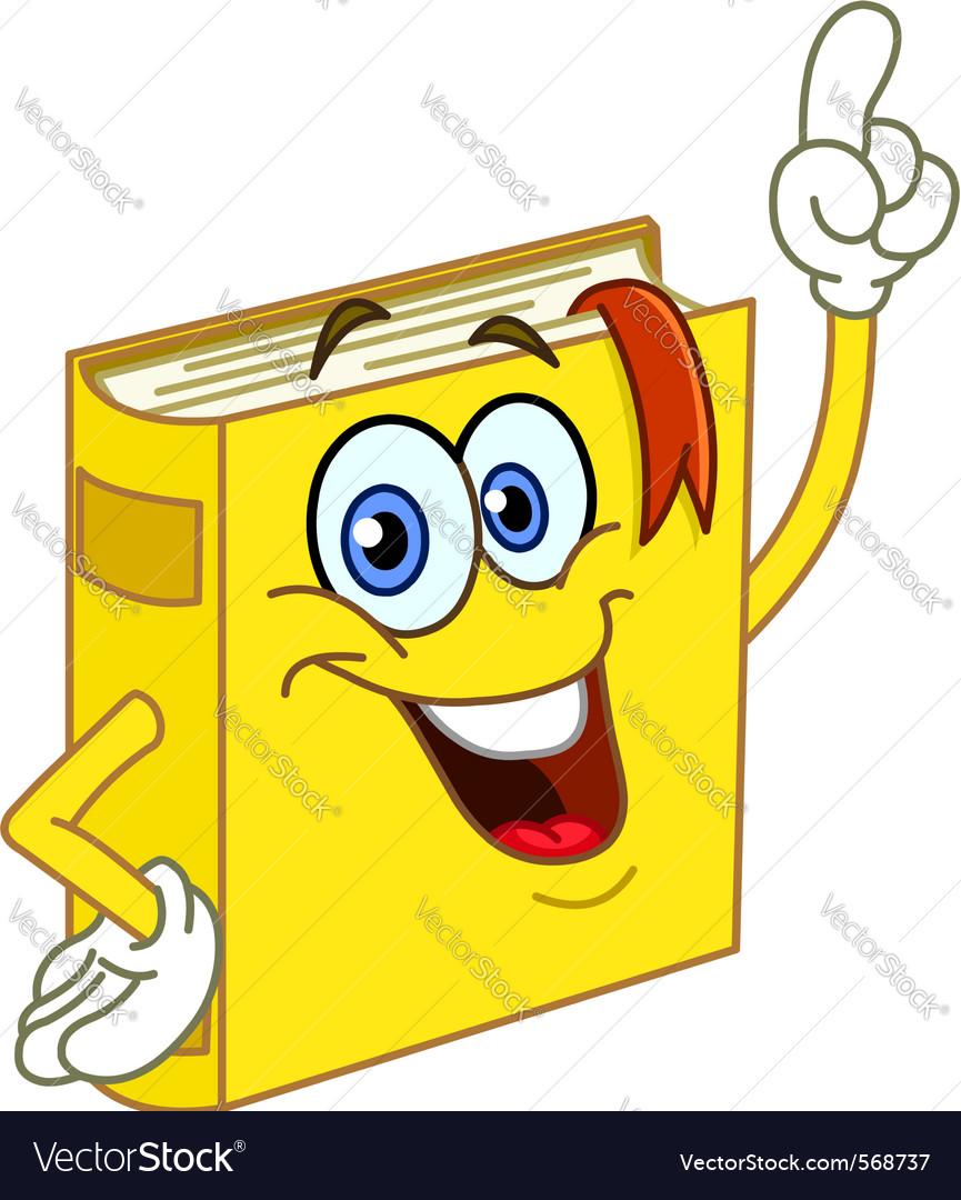 Book cartoon vector image