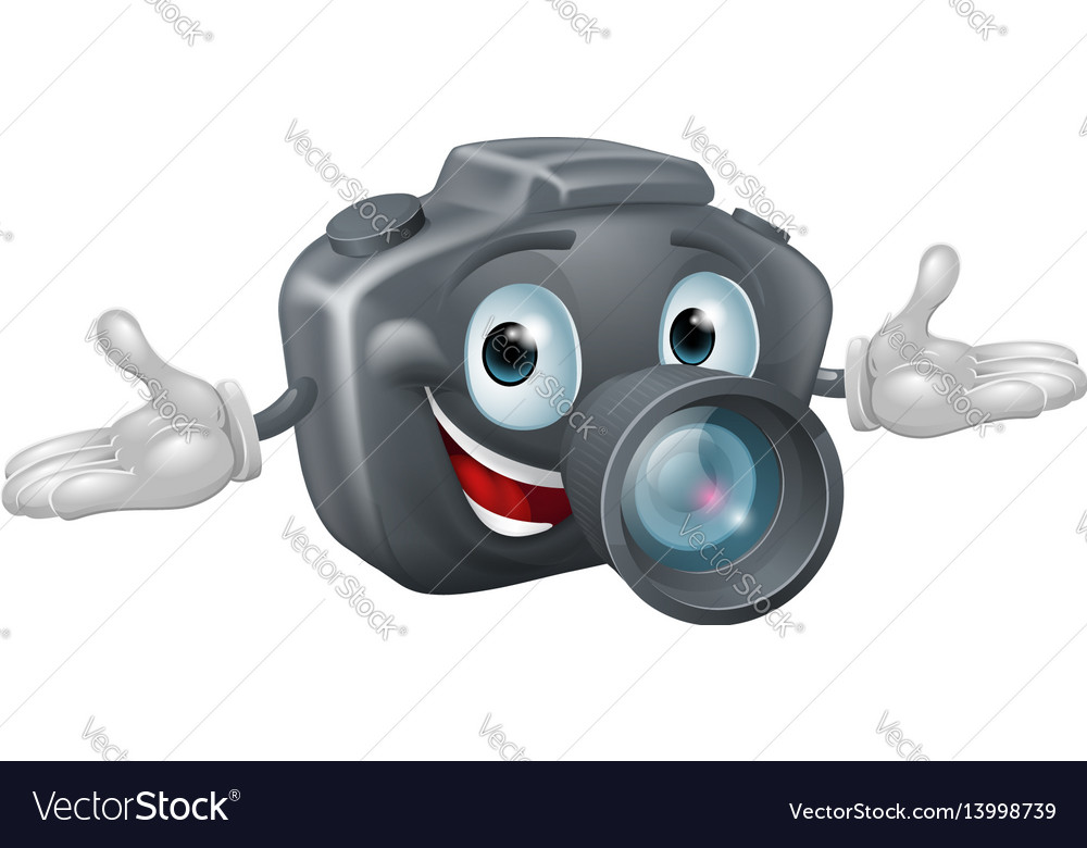 Camera man vector image