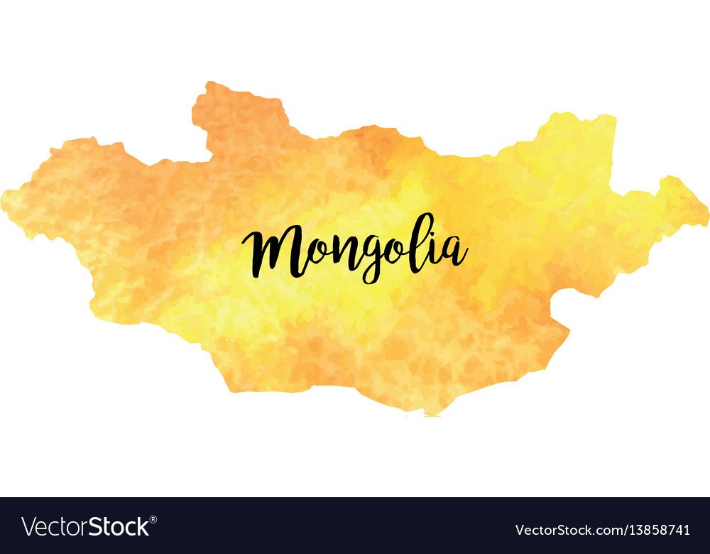 Abstract Mongolia Map Royalty Free Vector Image - Mongolia map vector