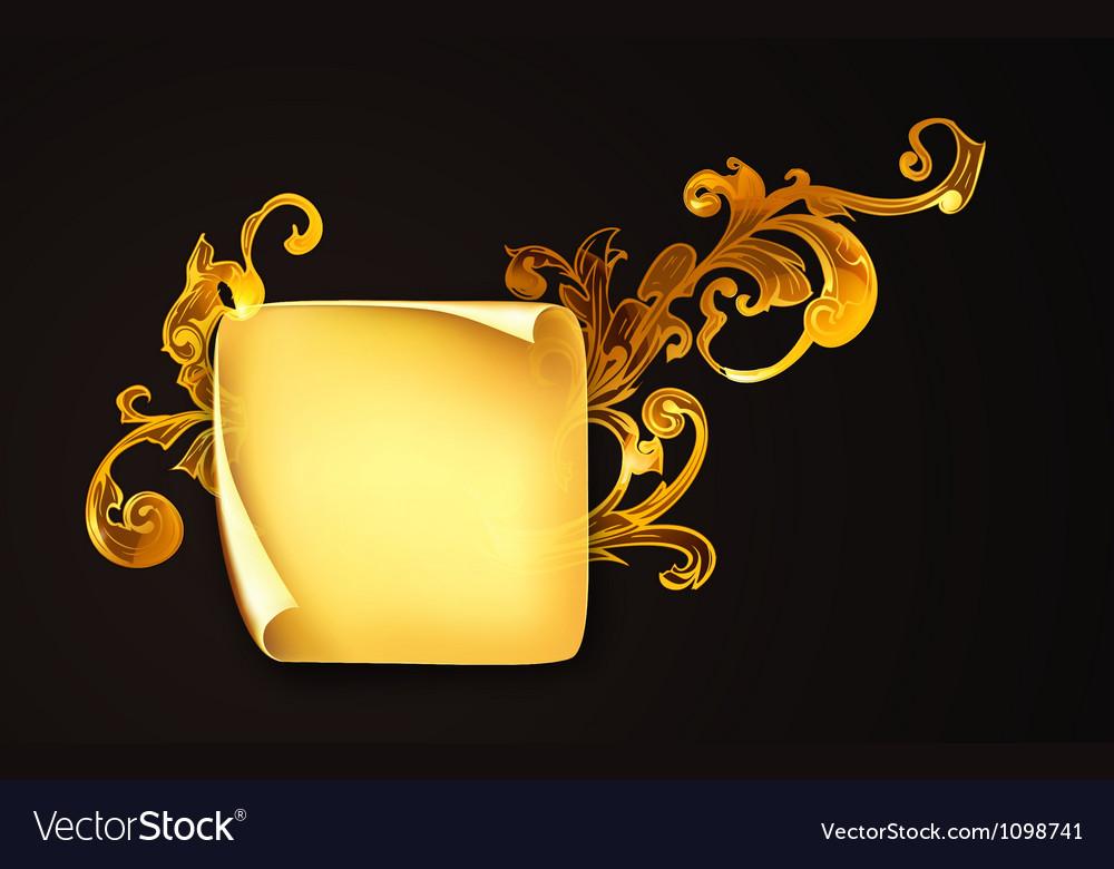 Paper sheet on black vector image
