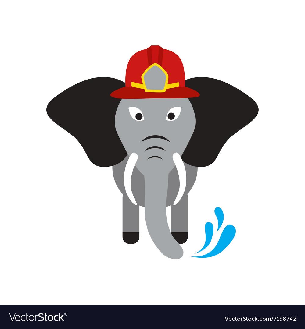 Flat icon on white background elephant cartoon