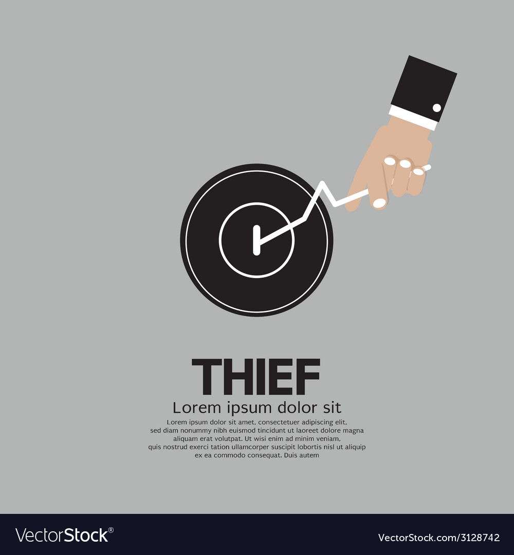 Thiefs Hand Turn On Door Knob Royalty Free Vector Image