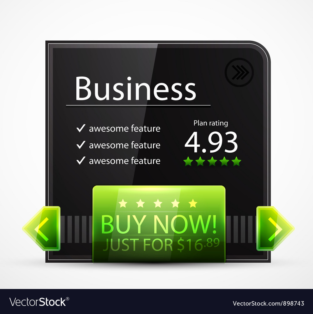 Black web box vector image